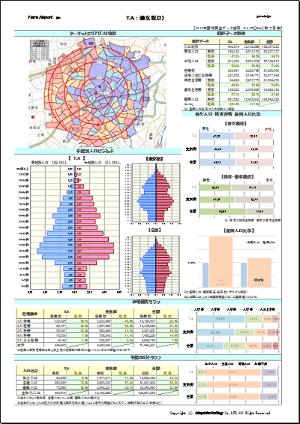 商圏分析レポートの出力方法3