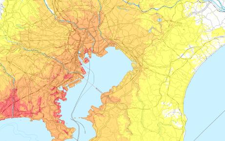 各種地震から想定される地震の災害状況を地図に可視化してBCP対策