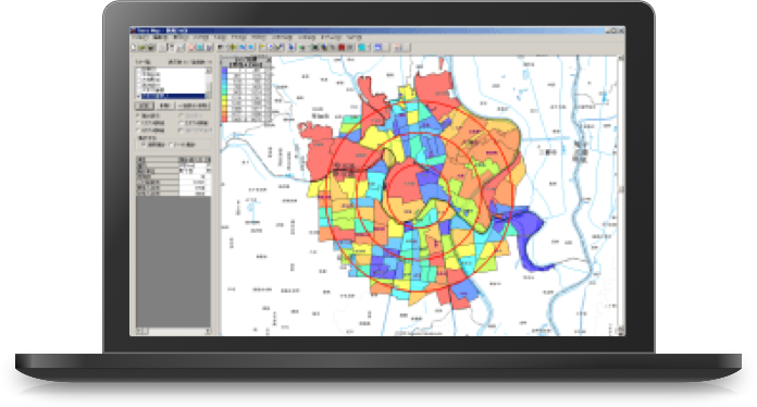 テラマップ(TerraMap)エリアマーケティングGISソフト