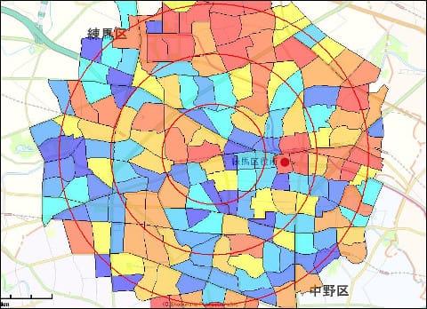 町丁目データでエリアマーケティング・商圏分析