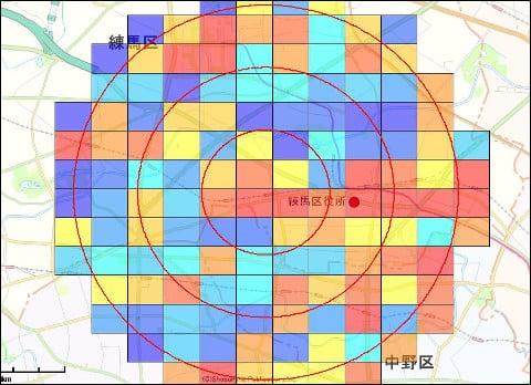 テラマップの機能:国勢調査などのデータを使ってヒートマップ分析