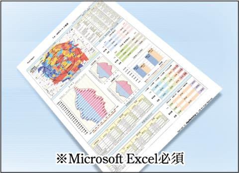 イメージ:ワンクリックレポートで簡単商圏分析