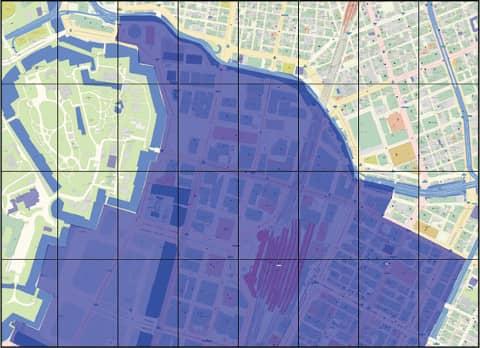 イメージ:様々な地図出力(分割、大判他)